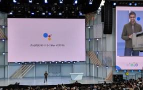 Sundar Pichai, CEO of Google, presents Google a