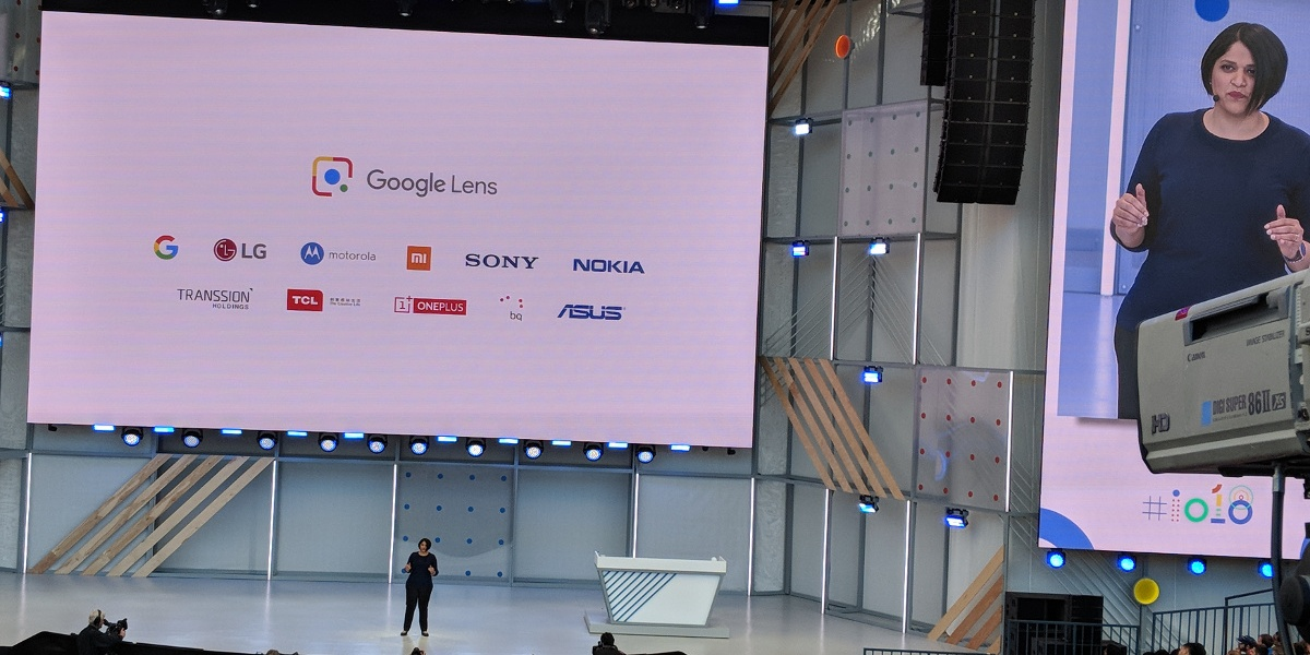Google's Aparna Chennapragada shares the logos of brands that will incorporate Lens directly into their camera apps