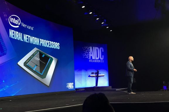 Intel VP and general manager of the AI product group Naveen Rao announces plans to release the Neural Net Processor L-1000 in 2019