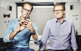 iZettle co-founders Jacob De Geer (left) and Magnus Nilsson
