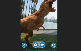 Jurassic World Alive lets you find dinosaurs in the real world.