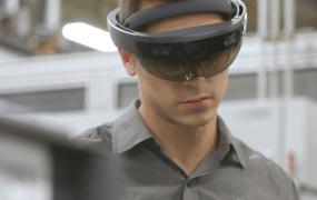 The original, current-generation HoloLens.