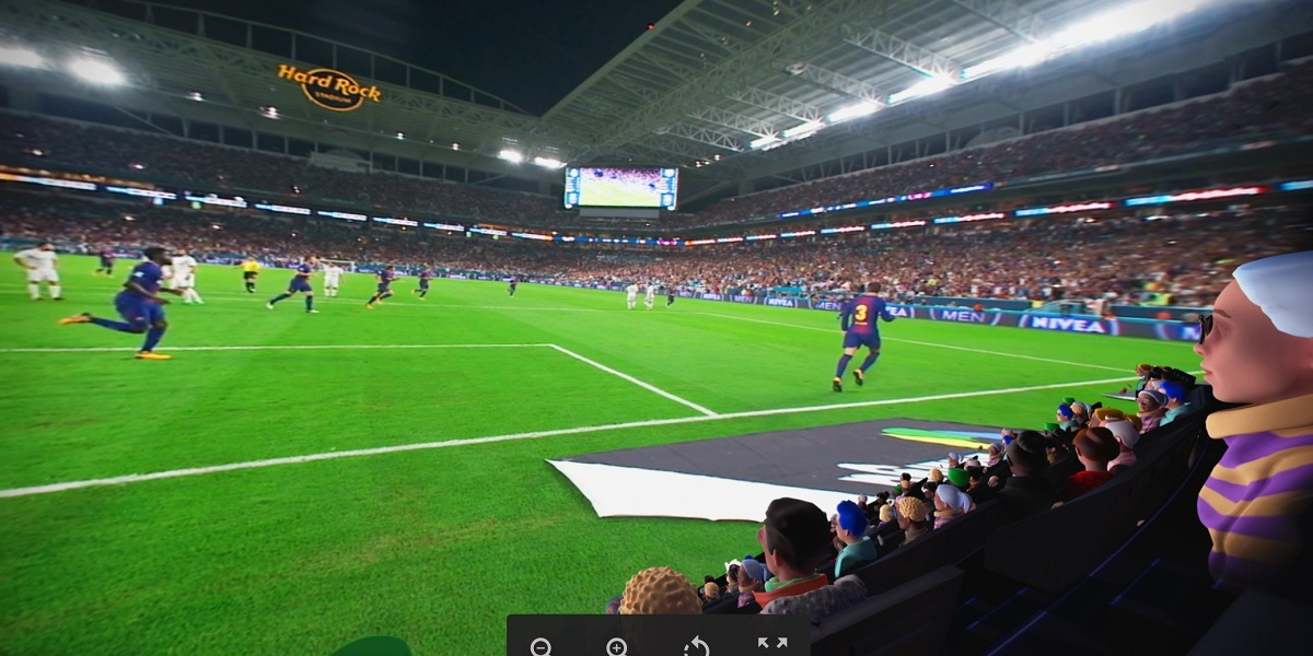 You can see what the best seats in the house look like with Oculus Venues.