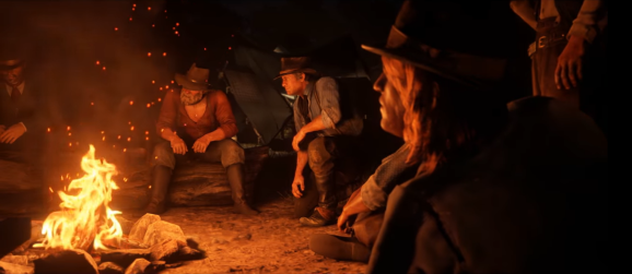 Red Dead Redemption II in action.
