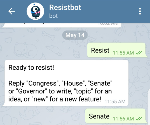 Resistbot makes civic involvement easy