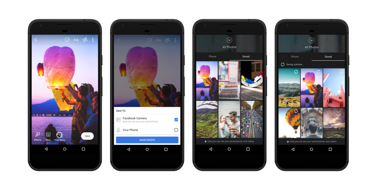 Forthcoming updates to Facebook stories will allow users to save photos and videos to their Facebook accounts.