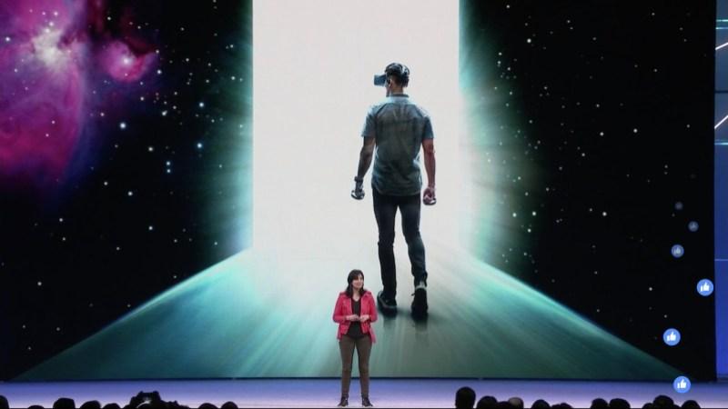 Maria Fernandez Guajardo discusses Oculus's next-generation Half-Dome VR headset at F8.