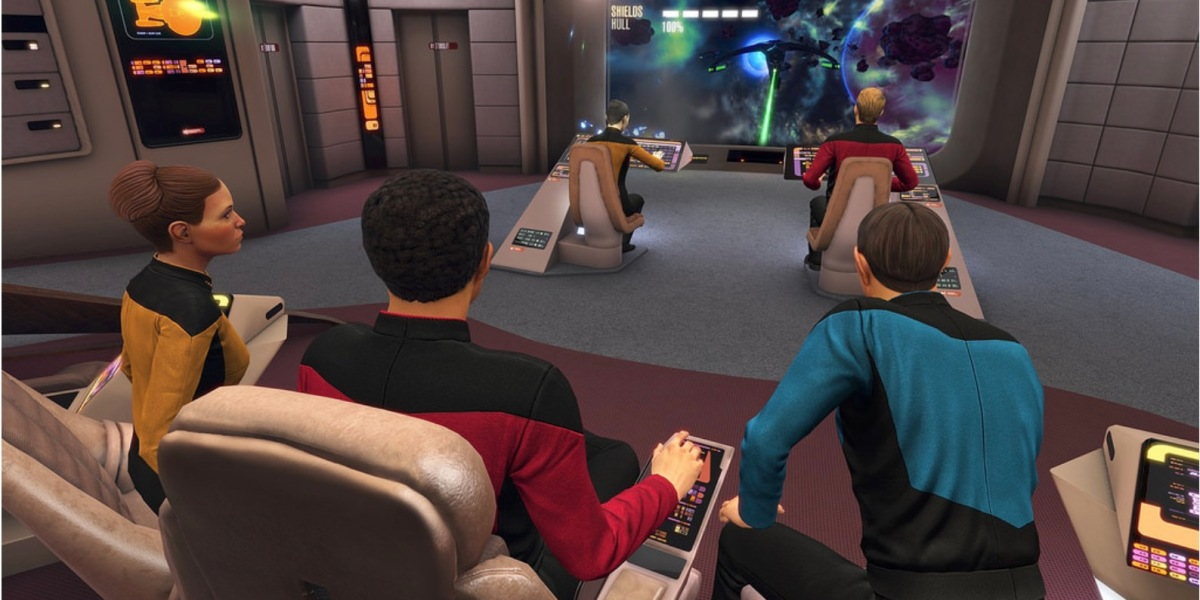 Star Trek: Bridge Crew gets a full reworking with Next Generation aesthetics, crew members, and opponents.