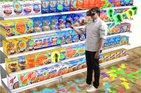 Tobii Pro VR Analytics enables companies to create virtual store layouts and packages, seeing which win the most attention from consumers.