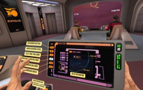 Take command of the NCC-1701-D Enterprise, directly from the captain's chair.