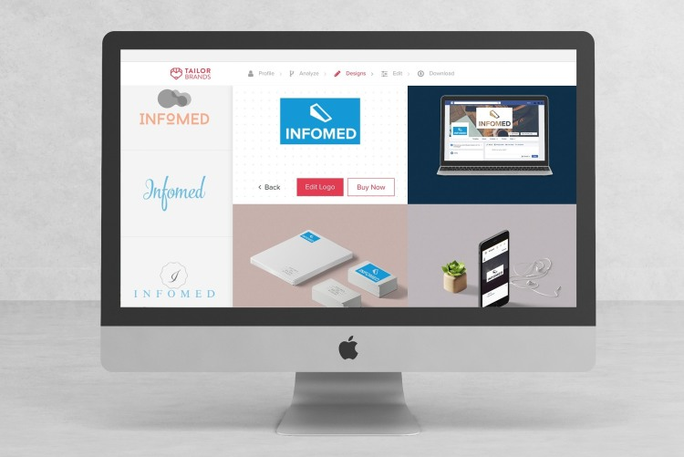 Tailor Brands interface