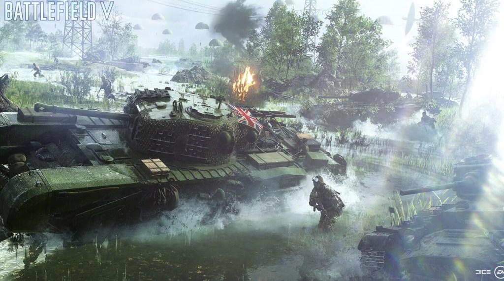 British tank in Battlefield V.