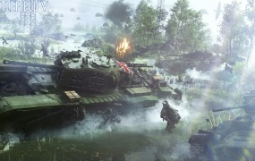 British tank in Battlefield V.