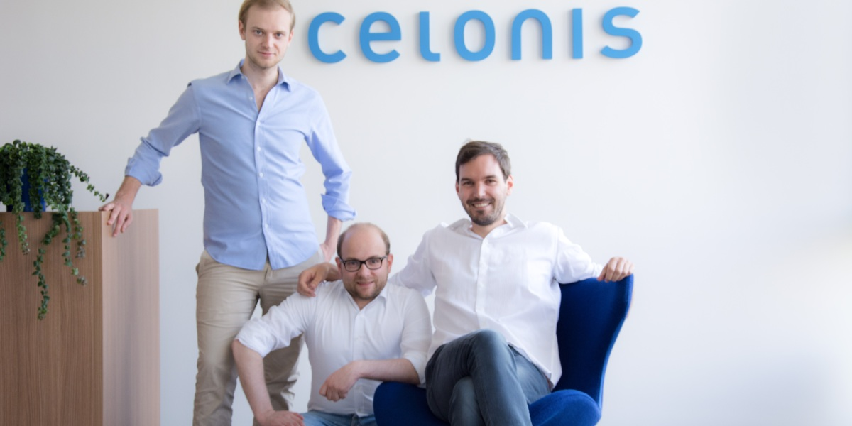 Celonis cofounders (left to right): Alexander Rinke, Bastian Nominacher, Martin Klenk.