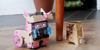 Smartibot lets you build a cardboard robot with AI smarts