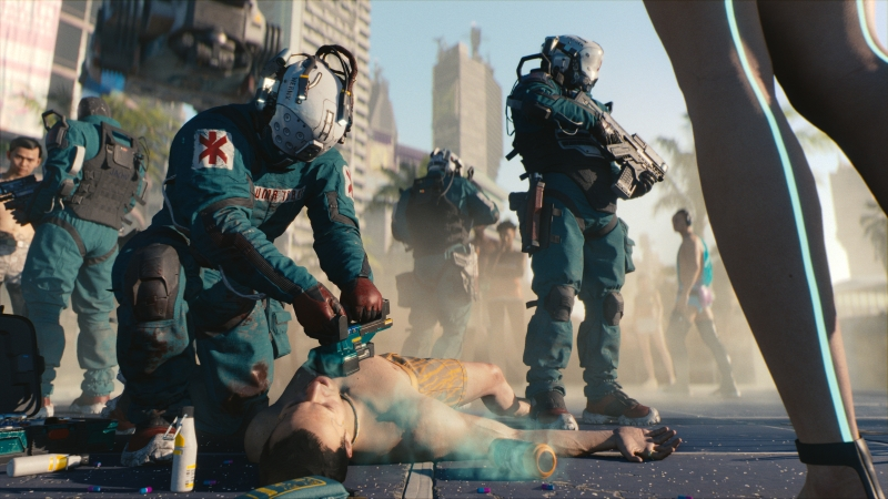 Cyberpunk 2077 has a positive vision of health care in the future.