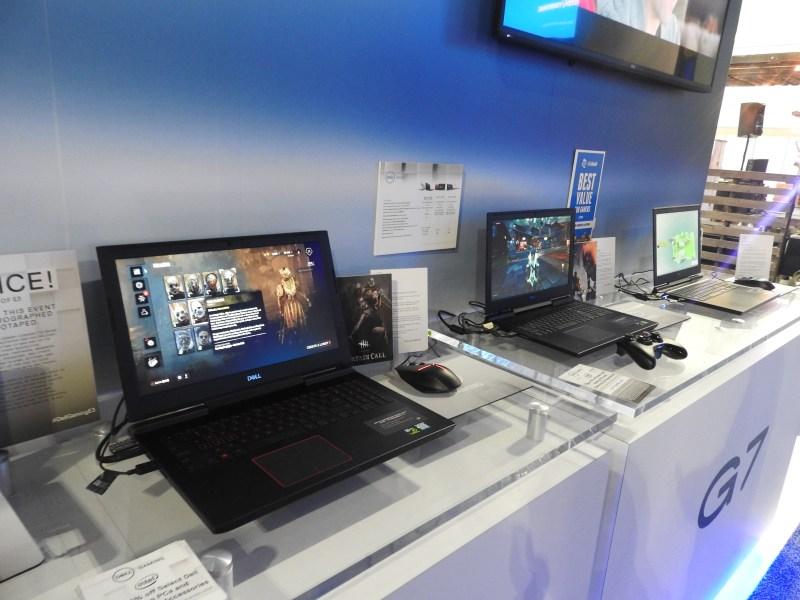 Alienware laptops at E3 2018.
