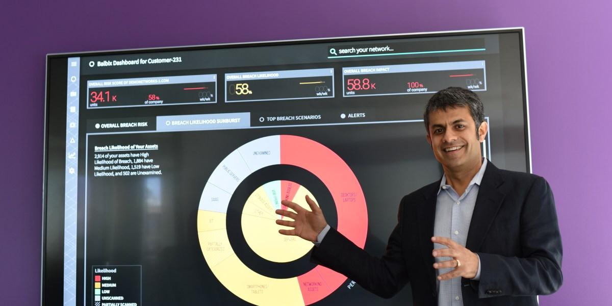 Gaurav Banga, CEO and founder of Balbix