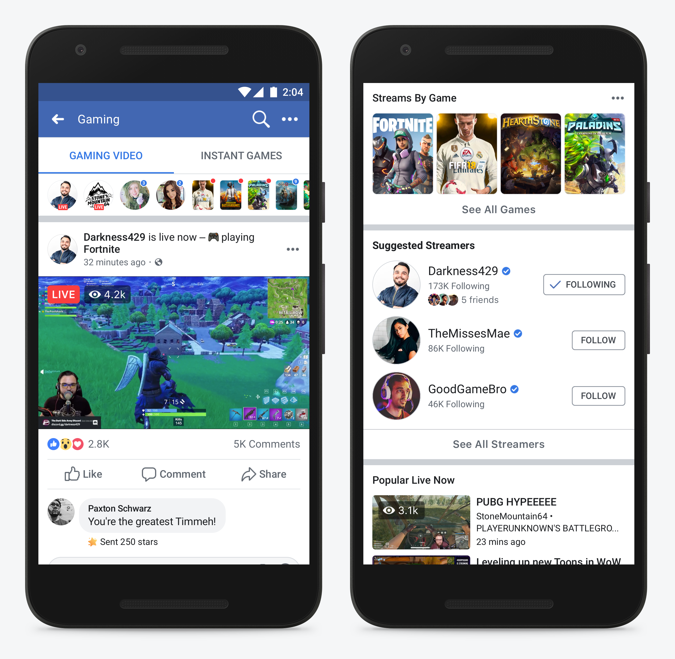 Facebook launches dedicated game streaming hub