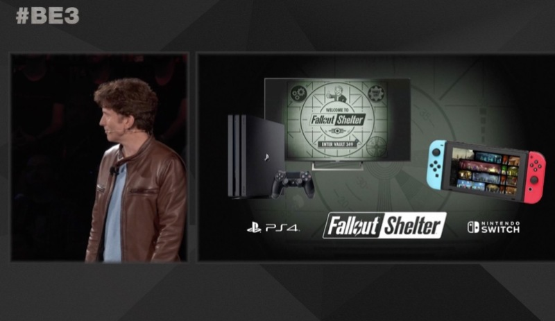 Fallout Shelter PS4 Switch E3 2017