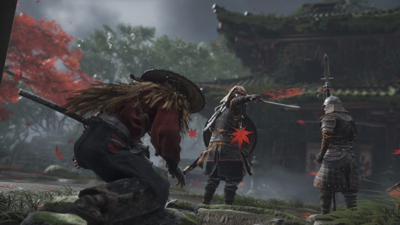 Samurai combat in Ghost of Tsushima.