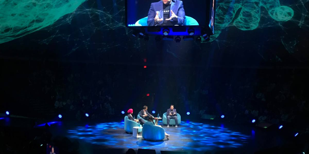 Element AI CEO Jean-François Gagné discusses the potential impact of artificial intelligence on society at the C2 conference in Montreal