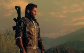 A man surveys the lands of Just Cause 4.