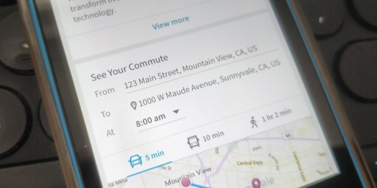 LinkedIn: Commute time