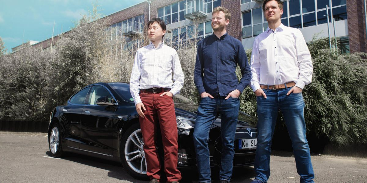 Silexica co-founders (left to right) Maximilian Odendahl, Johannes Emigholz, and Weihua Sheng