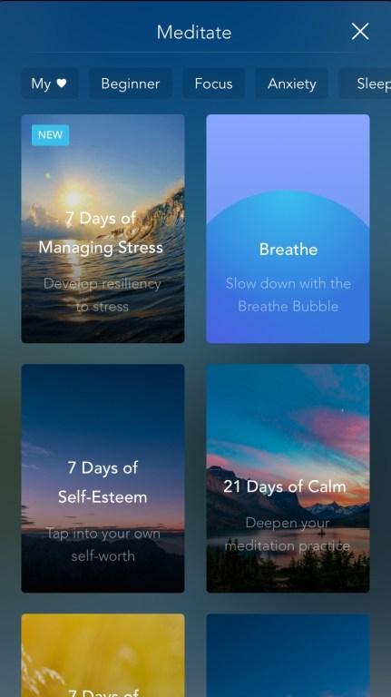 Calm: Meditate
