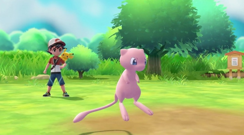 Mew comes standard in the Pokemon: Let's Go games.