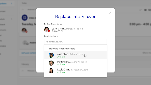 Google Replace Interviewer Hire