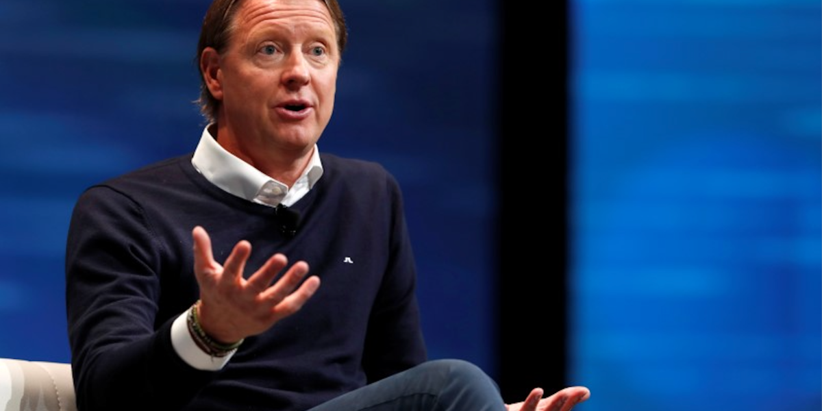 Hans Vestberg, Verizon executive vice president and president of Global Networks and Chief Technology Officer, speaks during a panel discussion on 5G wireless broadband technology during the 2018 CES in Las Vegas, Nevada, U.S. January 10, 2018.