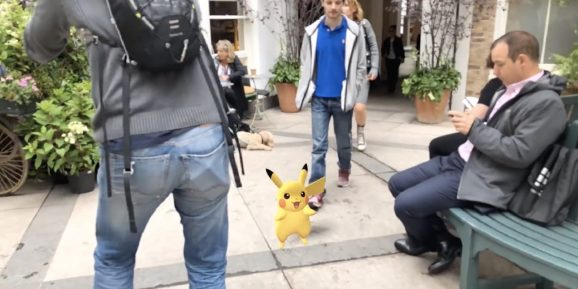 A demonstration of the Niantic Real World Platform.