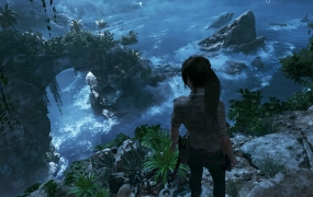 Shadow of the Tomb Raider Woman on Cliff Screenshot