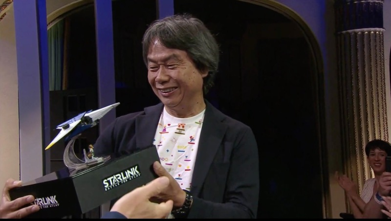 Shigeru Miyamoto shows up to support the release of Ubisoft's Starlink.