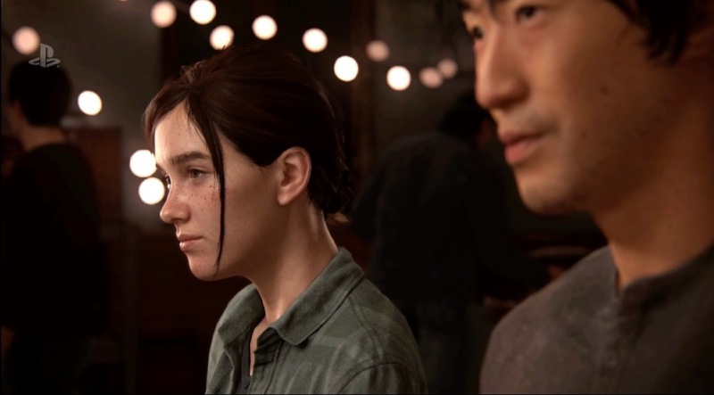 Ellie and a fellow survivor in The Last of Us Part II.