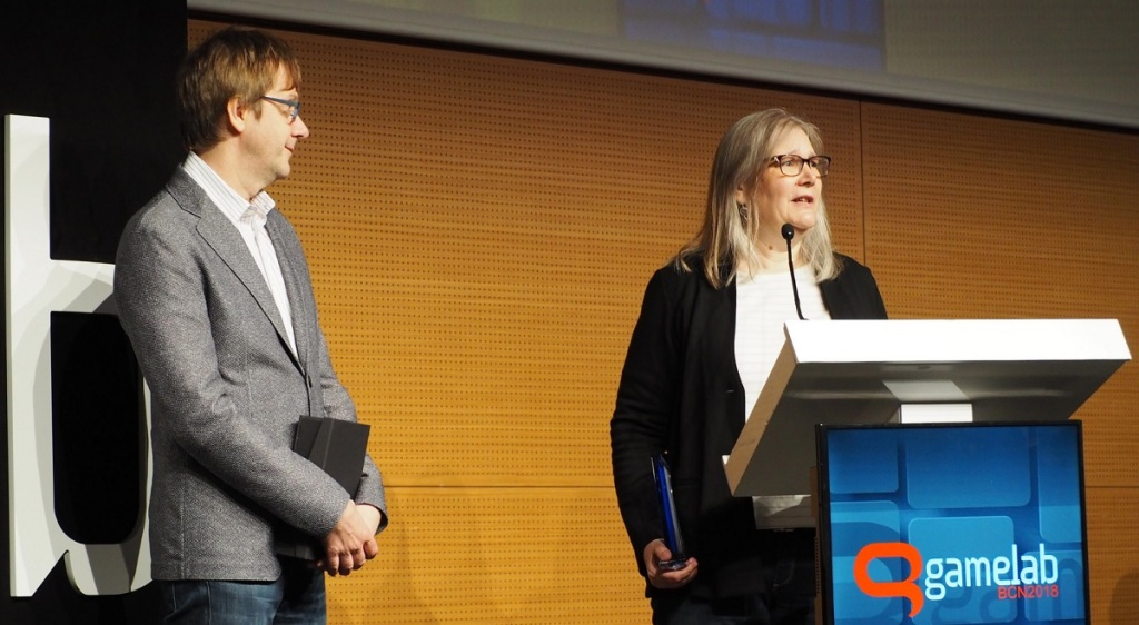 Though her latest game was a failure, Amy Hennig received an award for her career making great games at Gamelab.