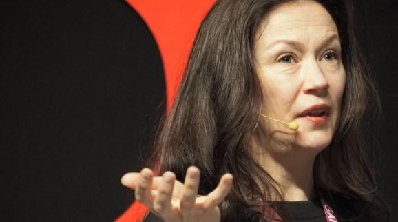 Angie Smets, executive producer at Guerrilla Games at Gamelab 2018.