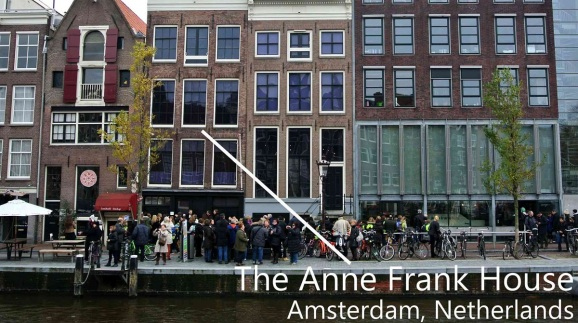 Anne Frank's house during WWII.