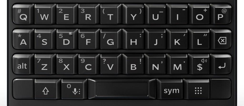 BlackBerry Key2's keyboard