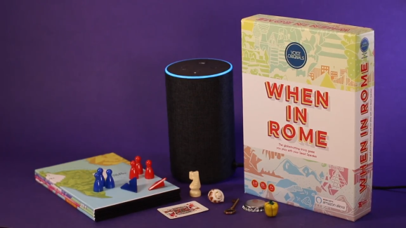 When in Rome board game with Alexa