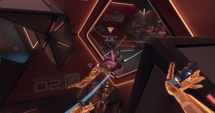 Echo Combat lets teams fight it out in a zero-g arena where they can hide behind cover.