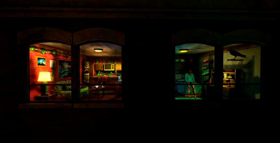 Voyeurism is encouraged in Ink Stories' Fire Escape.