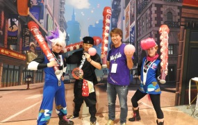 GungHo Entertainment CEO Kazuki Morishita, second from right.