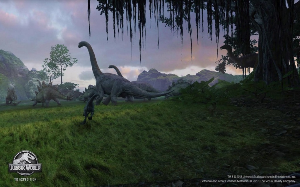 Jurassic World VR Expedition is debuting at Dave & Busters.
