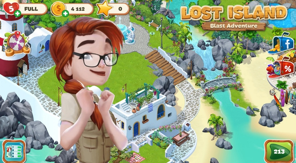 Lost Island: Blast Adventure has a long narrative to engage blast players.