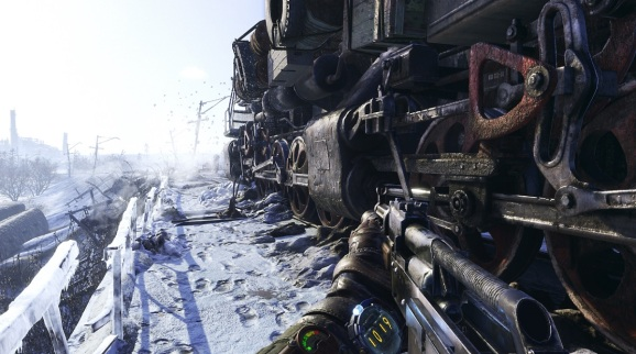 Metro Exodus has Artyom riding the Aurora locomotive.
