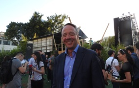 Mike Gallagher, CEO of the Entertainment Software Assocation, at Sony's event at E3 2018.