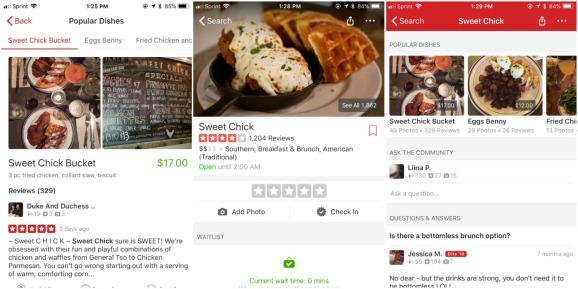 Yelp Popular Dishes